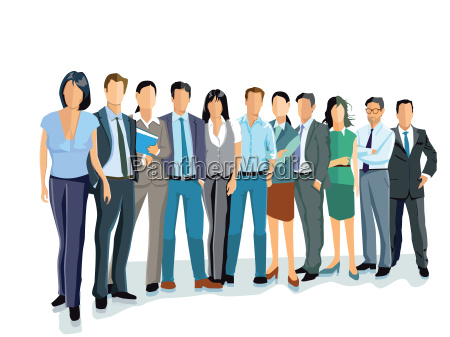 group of business people and women