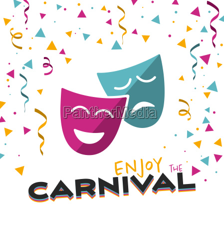enjoy the carnival on a white