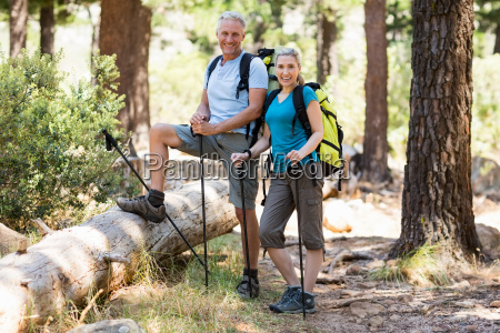 couple smiling and posing during a