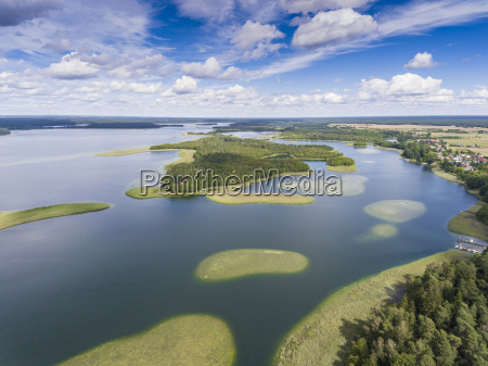 view of small islands on the