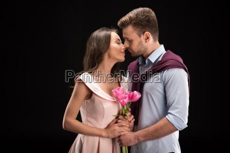 portrait of bonding couple in love