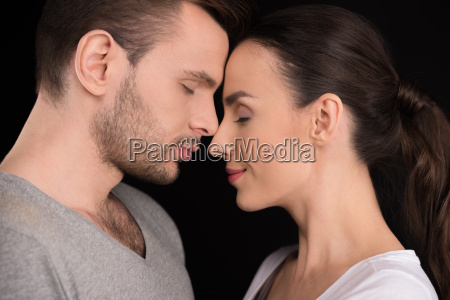 side view of couple in love