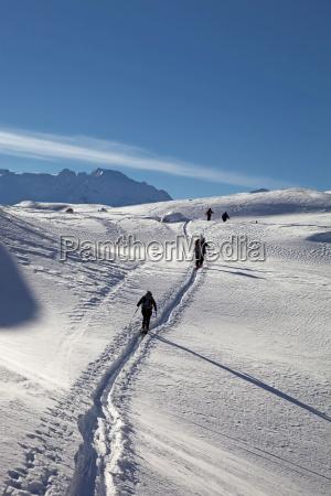 ski touring ski mountaineering in the