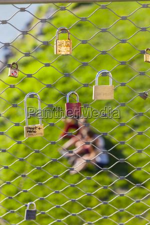 austria salzburg love padlocks at makartsteg
