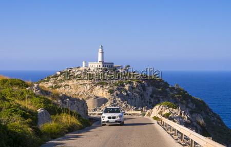 spain mallorca cap formentor lighthouse car