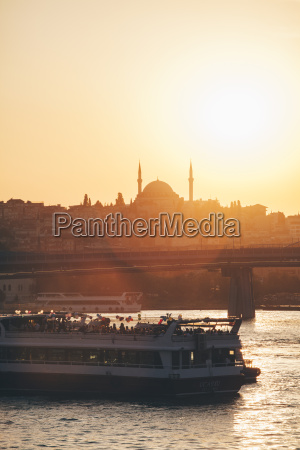 turkey istanbul view of ferry boat