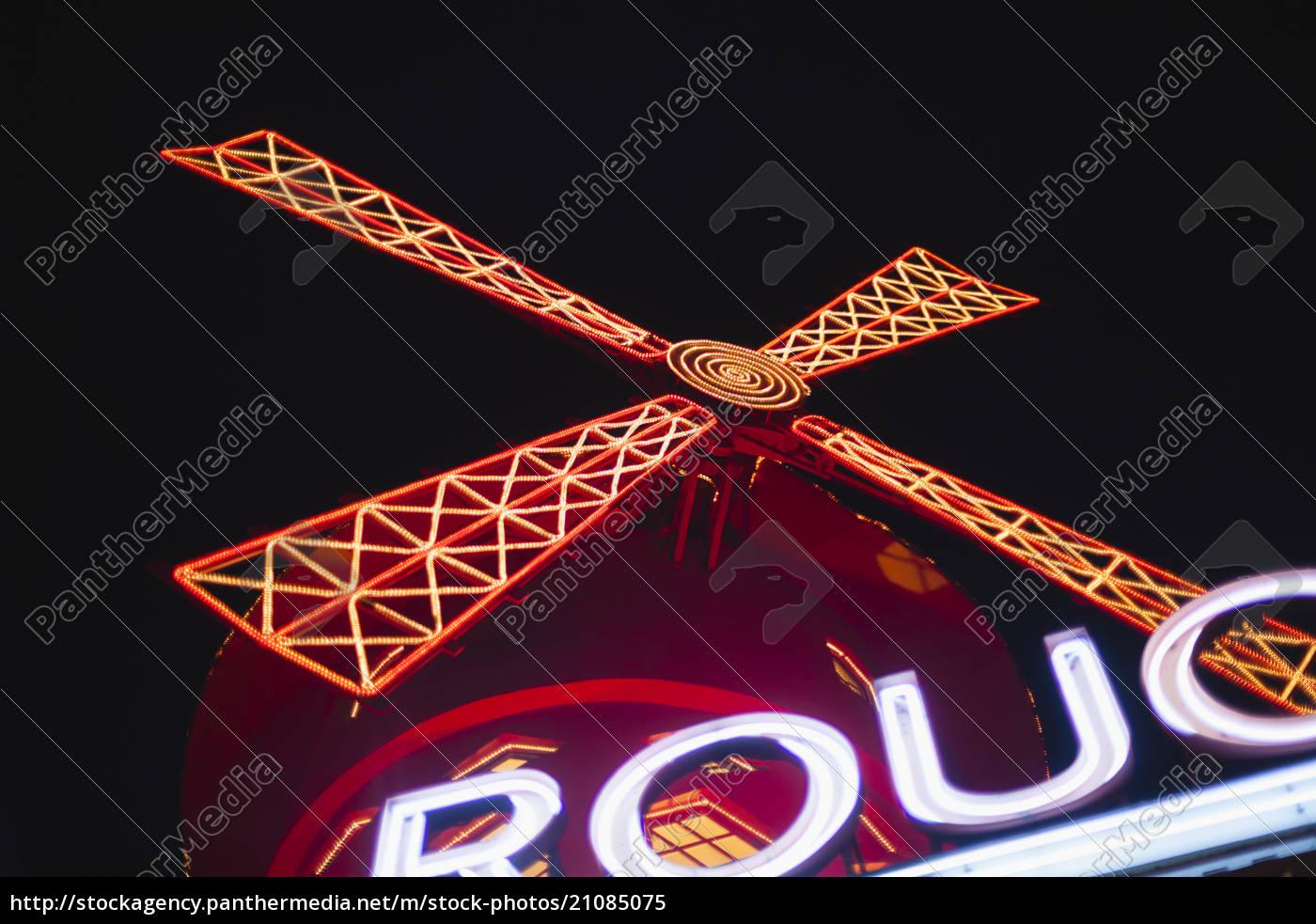 france, , paris, , lightes, moulin, rouge, by - 21085075