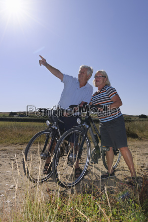france bretagne finistere senior couple on