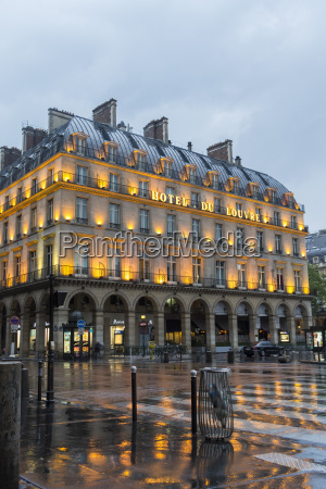france paris view to lighted hotel