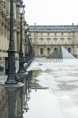 france paris view to glass pyramide