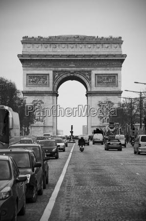 france paris view of arc de