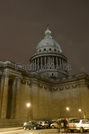 france paris view of pantheon at