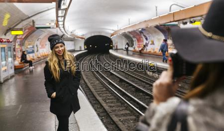 paris france tourists taking picture