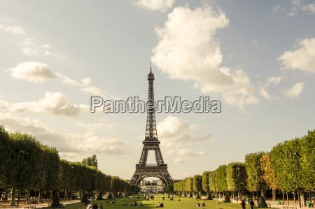 france paris view to eiffel tower