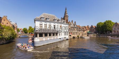 belgium bruges boat trip through the
