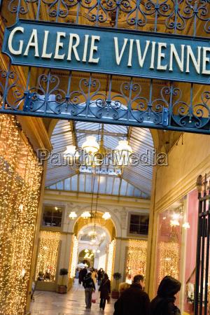 france paris shopping arcade galerie vivienne
