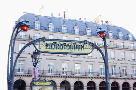 france paris metro sign at place