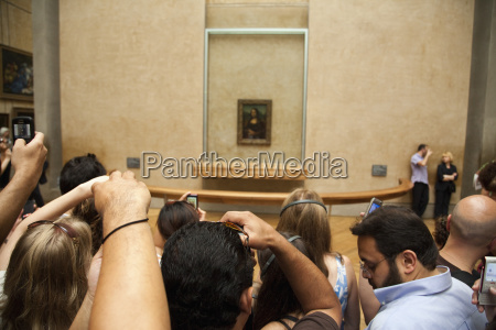 france paris tourist in museum