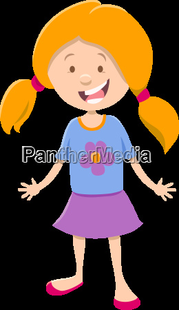 cute little girl cartoon character