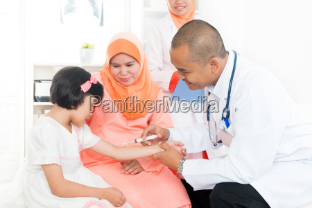 children vaccine concept