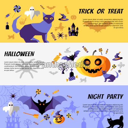digital vector yellow purple happy halloween