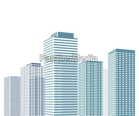 paisaje urbano con rascacielos ilustracion