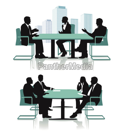 business conference discussionillustration