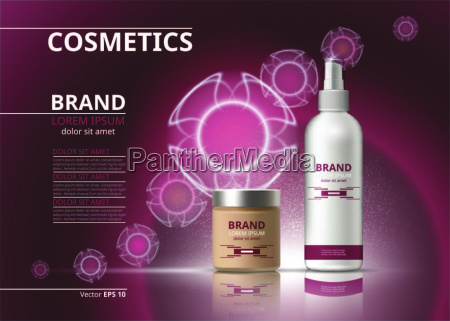 cosmetic realistic package ads template hydrating
