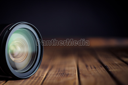 camera lens with reflections