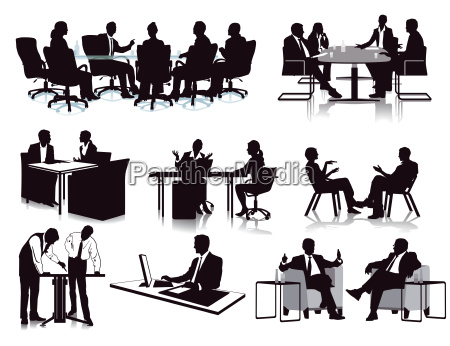 business meeting discussionillustration