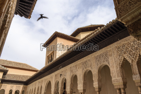exterior view alhambra palace granada andalusia