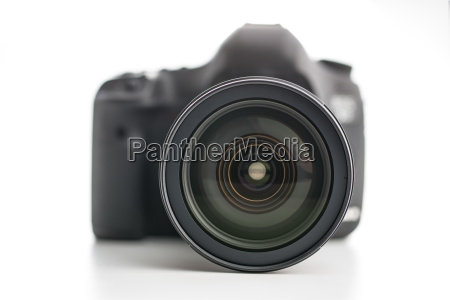 professional camera with lens