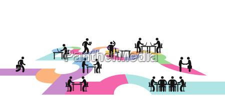 workplace conceptpictogram