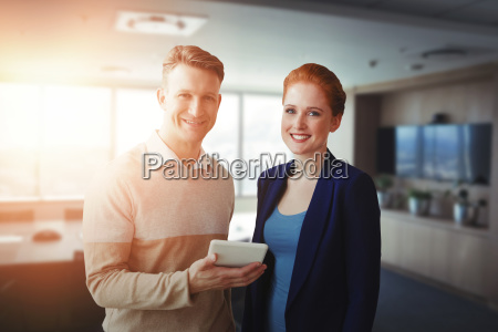 composite image of smiling business