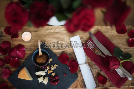 romantic still life for a valentines