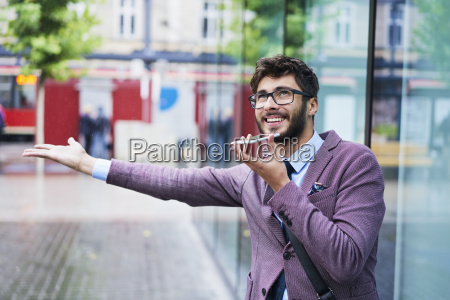 portrait of young businessman on the