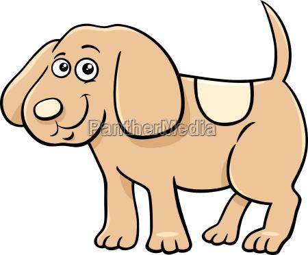 cute puppy character cartoon illustration