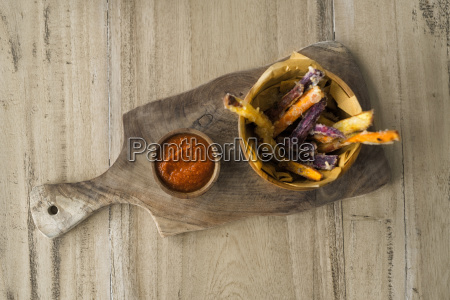 homemade sweet potato and potato chips