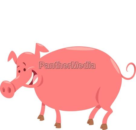 pig farm animal character cartoon illustration
