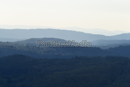 view from lusen mountain over the