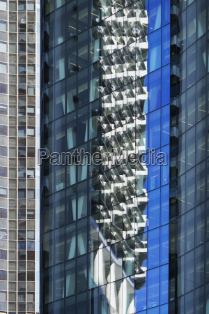 close up of reflections in glass