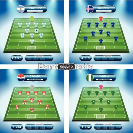 soccer team player plan group d