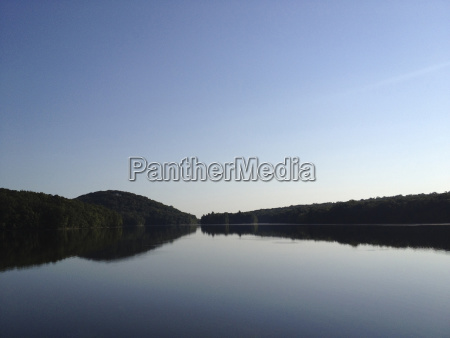 idyllic view of calm lake against