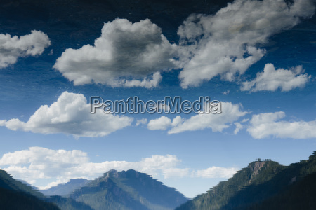 high angle view of mountain and