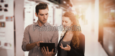 composite image of concentrated business people