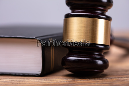 macro shot of mallet and law