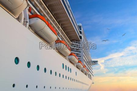 luxury passenger ship cruise liner at