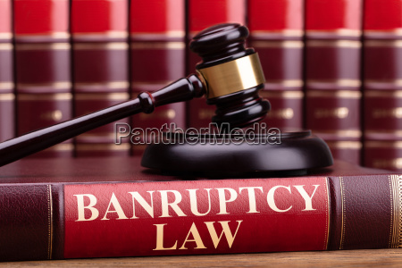 bankruptcy law book with a judge