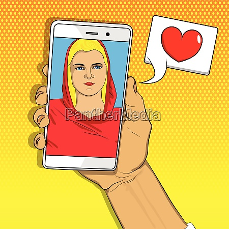 online dating long distance relationship concept