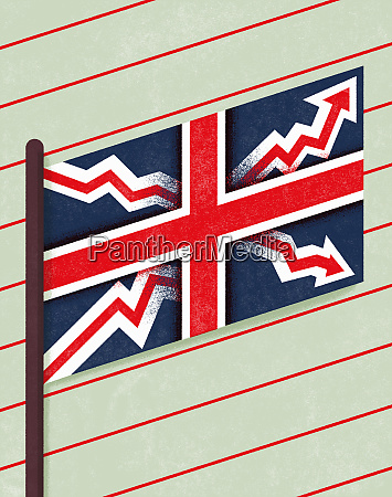union jack with arrows on diagram